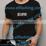 LED Message T-shirt,can change message t-shirt