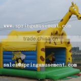 gaint commercial Giraffe inflatable castle, inflatables, Inflatable Bouncer Central Park For Outdoor Party Game