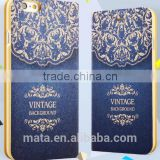 Glod Foil Painting Ultra Thin Breathable Leather Case For iphone 6