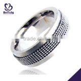 Wholesale hot men rings stainless steel micro pave