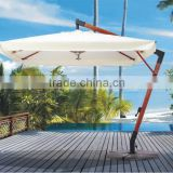 Sun Garden Parasol 3M Wooden Hanging Outdoor Patio Umbrella