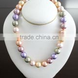 High quality hot sell big pearl choker necklace 8-10 mm big pearl beads choker necklace fresh water pearl beads strand choker