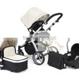 2016Baby Stroller European standard High Quality And Comfortable 3 in 1 Fuctions Deluxe Reversing Handle Baby Stroller