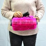 Luxury heated fake fur hand muff