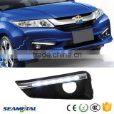 Car LED Fog Light DRL Driving Lamp Daytime Running Lights For Honda City 2014 2015                                                                         Quality Choice