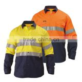 wholesale manufacturer hi vis shirt two tone 3M reflective safety work yesllow hi vis shirt