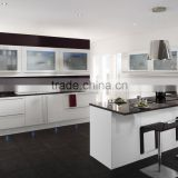 Kitchen furniture acrylic MDF kitchen cabinet with accessories in factory