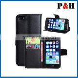 For iPhone three cards slot for iPhone 6 wallet case for iPhone 6 plus case bag magetic phone holder