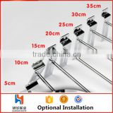Huohua widely use metal chrome slat wall display hook