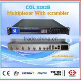 COL5282B hdmi video multiplexer scrambler, 8 channels mpeg2 mpeg4 digital tv multiplexer video scrambler