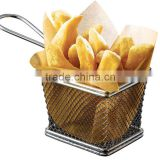 Stainless steel mini fryer basket kitchen cooking wire mesh storage baskets