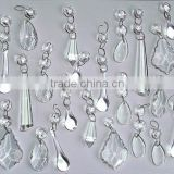 6.9-3 Chandelier Drops Parts Glass Shaped Crystals Shabby Droplets Upcycle Beads Charms Dazzle Christmas Tree