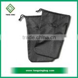 Black 600D shoebag custom shoe dust bag guangzhou shoes and bag                                                                                                         Supplier's Choice