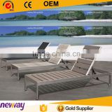 New arrival outdoor furniture poly wood furniture beach wooden sun lounger                                                                         Quality Choice