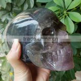 INQUIRY ABOUT Natural Lifelike Reiki Fluorite Crsytal Skull for Sale