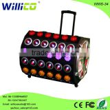 willico USA BT good bass hight power dj system active pa speaker with laser Lights strobe Lights wws-34