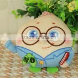 China tertiary referral center partner customize Pendant decoration Stuffed & Plush Toy peach LOGO embroidery