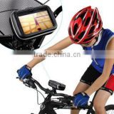 "GPS SAT NAV Waterproof Leather Case w/ Mount Holder Motorcycle Motorbike Cycle Fits of 3.5"" & 4.3"" G"