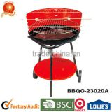 2016 Hotsale! Outdoor Triangle Adjustable Height Removable Powder Plated Enamel Barbecue Grill with Wheel Grill High Quality