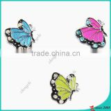 Mixed Color Enamel Butterfly Pendant Charm Bead for Bracelets Necklace