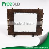 China factory direct Sales polished surface blank DIY image wooden frame rock sublimation