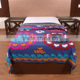 Indian Suzani Handmade Bedspread Cotton Ethnic Embroidered Tapestry Wall Hanging Hippie Bedding Throw