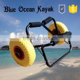 kayak accessory/flexible and firm U style with solid pu wheels Kayak Trolley/Kayak Cart/Scupper trolley