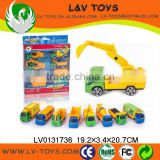 Wholesale diecast cars free wheel kids toys car 8 in 1
