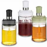 SINOGLASS single 250 ml with combination dipper and lid Glass honey jar