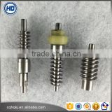 Customized archimedes inline helical small module elevator/motor transmission worm gear from China
