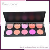 10 colorful blush queen palette,So sweet blusher with brush