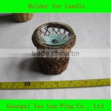Nature Bamboo Tea Light Candle Holder Manufactuer