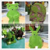 green decoration wire animals, moss topiary garden decoration, artificial moss topiary animals