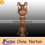 made in China swan and human face galvanied bronze flower pot NTBF-FL147S