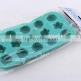Rectangular flower design silicone ice cube mold/ ice cube tray