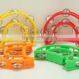 Eco-friendly Tambourine Plastic Baby Timbrel Drum for sale chinese musical instrument