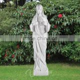 Outdoor decor stone carvings and sculptures hand carved marble regilious jesus christ statue