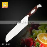 Hot sales High quality 3cr13/German 1.4116 stainless steel blade kitchen knife santoku knife with G10 petent handle