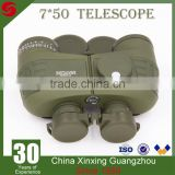 High quality waterproof Tactical & Army&Military 7x50 green binoculars telescope