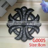 beautiful High quality rhinestone sequin hot fix motif for garment