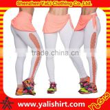 wholesale fitness clothing trade,gym wear high waist mesh women sports fitness yoga pants custom logo sportswear