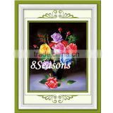 Handmade Multicolor Flower Pattern Embroidery Diamond Painting DIY Kit Cross Stitch For Living Room 50cmx12cm