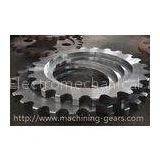 Non - Standard Aluminum Motorcycle Chain Sprockets Industrial Machinery Parts