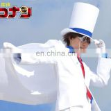 Rose Team-Free Shipping Case Closed Detective Conan Kaito Kid Gentleman Thief White Suit Sexy Halloween Carnival Costume