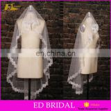 Wholesale New Collection White One Layer Lace Appliques Wedding Bridal Veil