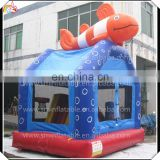 Factory Direct inflatable fish bouncer castle,indoor mini bouncy for toddler,backyard mini jumper for kids