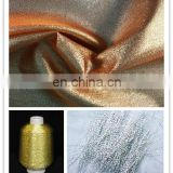 Stage performance clothing fabric shinny matallic glitter satin fabric