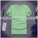 2017 Summer blank green shirt short sleeve cheap t shirt for wholesale