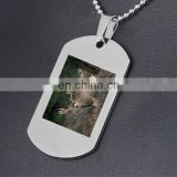custom printing deer dog tag with ball chain