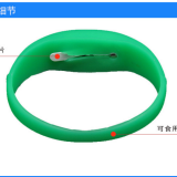 Silicone Rubber Bracelets Motion Activated Led Glowing Wristband
